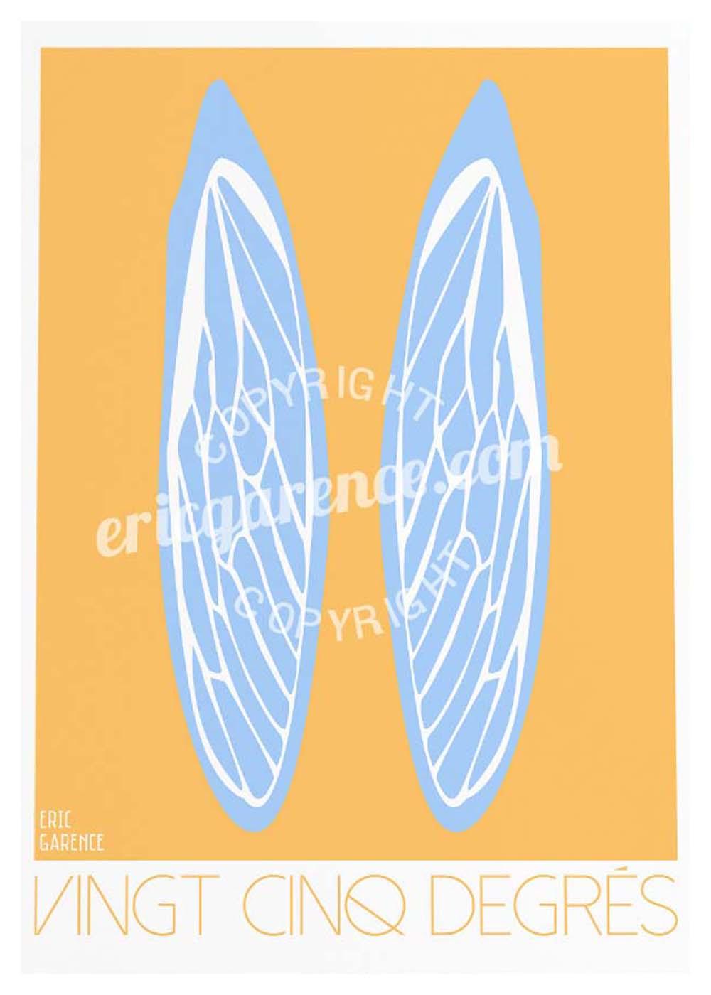 Sud France Cigale Provence Tourtour Soleil Affiche Poster ARt Garence Eric Cadeau